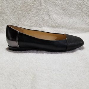 Geox Respira black with metallic flat shoes